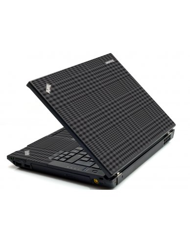 Black Plaid IBM T420 Laptop Skin