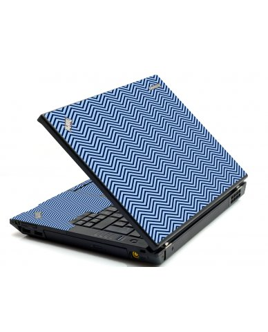 Blue On Blue Chevron IBM T420 Laptop Skin
