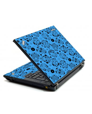 Crazy Blue Sugar Skulls IBM T420 Laptop Skin