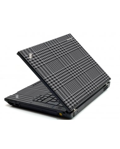 Darkest Grey Plaid IBM T420 Laptop Skin
