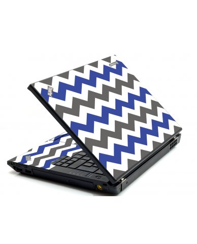 Grey Blue Chevron IBM T420 Laptop Skin