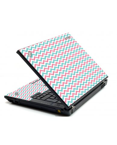 Pink Teal Chevron Waves IBM T420 Laptop Skin