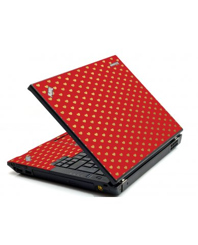 Red Gold Hearts IBM T420 Laptop Skin