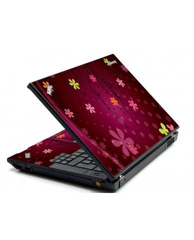Retro Pink Flowers IBM T420 Laptop  Skin
