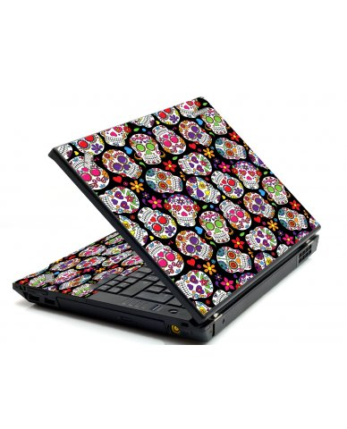 Sugar Skulls Black Flowers IBM T420 Laptop Skin