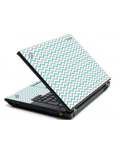 Teal Grey Chevron Waves IBM T420 Laptop Skin
