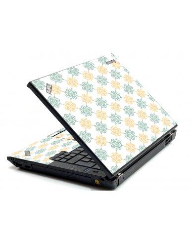 Yellow Green Flowers IBM T420 Laptop Skin