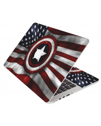 Capt America Flag Apple Macbook Air 11 A1370 Laptop Skin