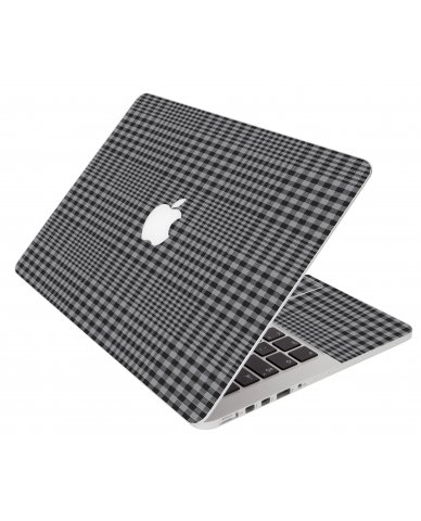 Darkest Grey Plaid Apple Macbook Air 11 A1370 Laptop Skin