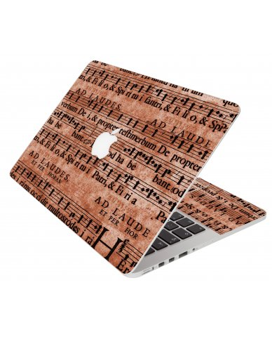 Latin Sheet Music Apple Macbook Air 11 A1370 Laptop Skin