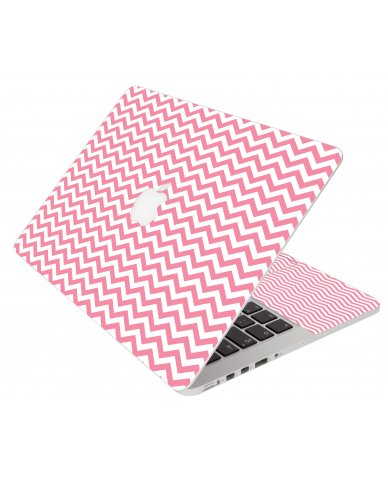 Pink Chevron Waves Apple Macbook Air 11 A1370 Laptop  Skin