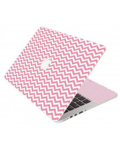 Pink Chevron Waves Apple Macbook Air 11 A1370 Laptop  Skin