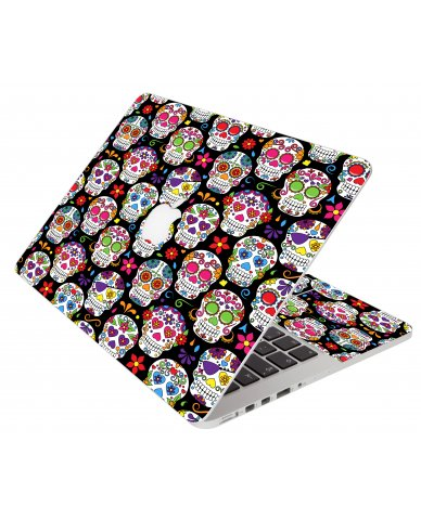 Sugar Skulls Seven Apple Macbook Air 11 A1370 Laptop Skin