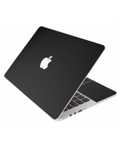 Black Carbon Fiber Apple Macbook Air 13 A1466 Laptop Skin