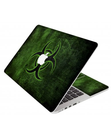 Green Biohazard Apple Macbook Air 13 A1466 Laptop Skin