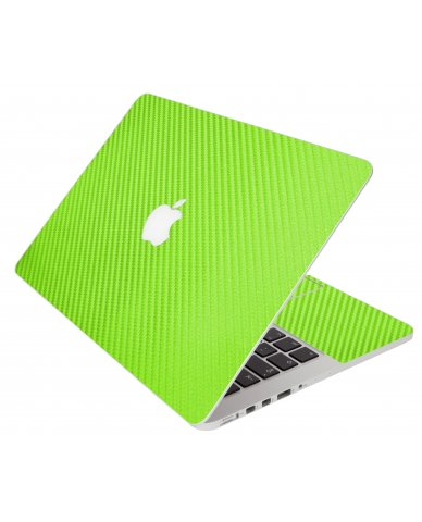 Green Carbon Fiber Apple Macbook Air 13 A1466 Laptop Skin