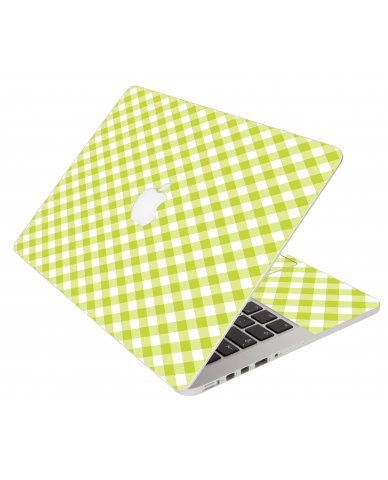 Green Checkered Apple Macbook Air 13 A1466 Laptop Skin