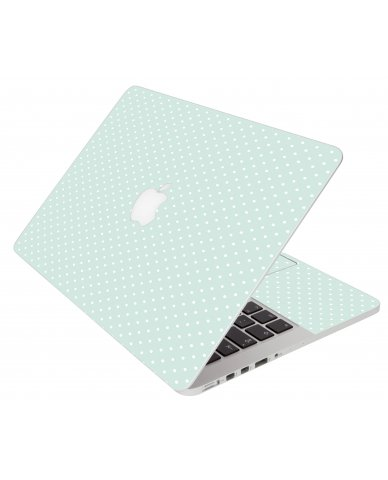 Light Blue Polka Apple Macbook Air 13 A1466 Laptop Skin