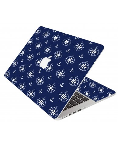 Nautical Anchors Apple Macbook Air 13 A1466 Laptop Skin
