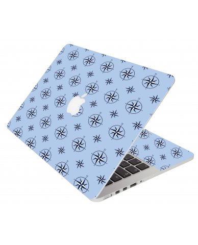 Nautical Blue Apple Macbook Air 13 A1466 Laptop Skin