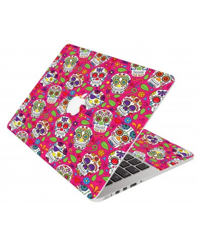Pink Sugar Skulls Apple Macbook Air 13 A1466 Laptop Skin
