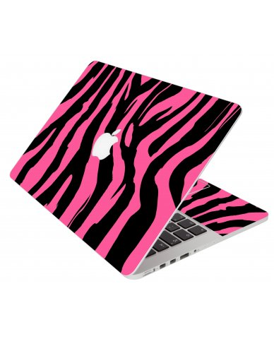 Pink Zebra Apple Macbook Air 13 A1466 Laptop Skin
