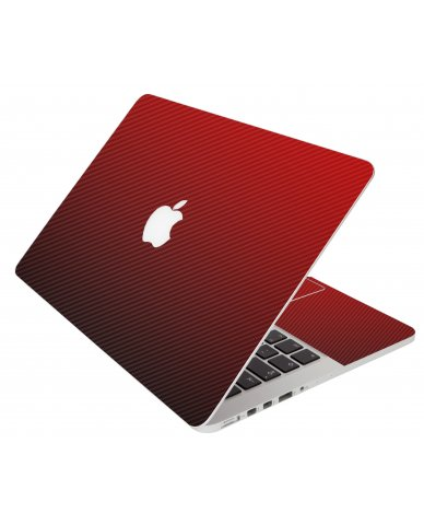 Red Carbon Fiber Apple Macbook Air 13 A1466 Laptop Skin