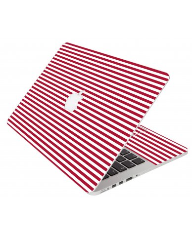 Red Stripes Apple Macbook Air 13 A1466 Laptop Skin