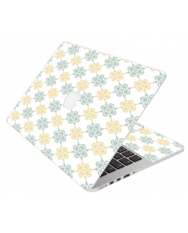 Yellow Green Flowers Apple Macbook Air 13 A1466 Laptop  Skin