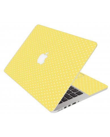 Yellow Polka Dot Apple Macbook Air 13 A1466 Laptop Skin