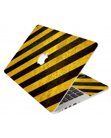Caution Stripes Apple Macbook Original 13 A1181 Laptop Skin