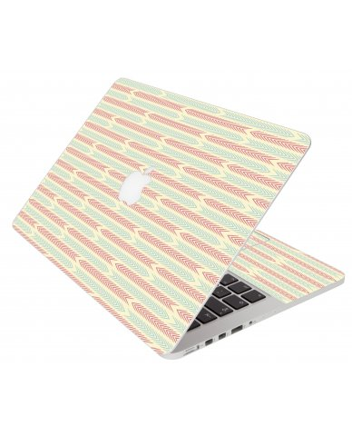 Crazy Circus Stripes Apple Macbook Original 13 A1181 Laptop Skin