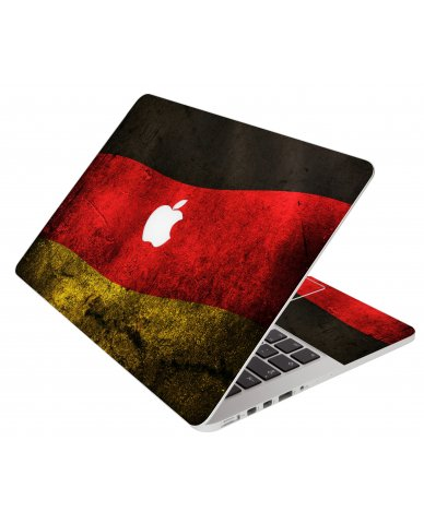 German Flag Apple Macbook Original 13 A1181 Laptop Skin
