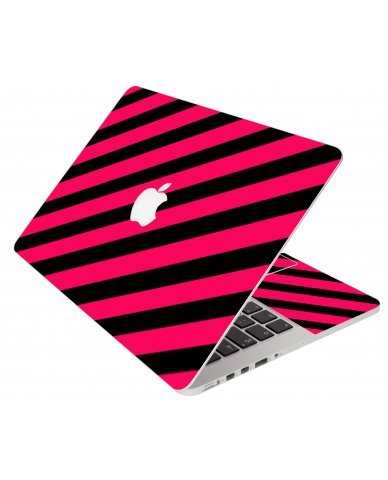 Pink Black Stripes Apple Macbook Original 13 A1181  Laptop Skin