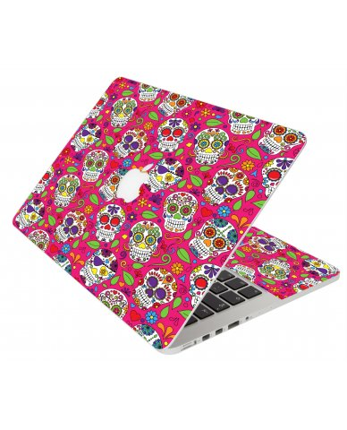Pink Sugar Skulls Apple Macbook Original 13 A1181 Laptop Skin