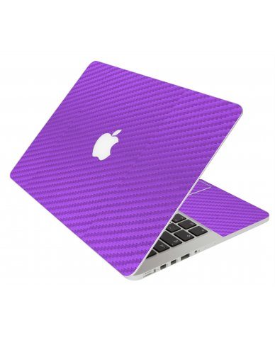 Purple Carbon Fiber Apple Macbook Original 13 A1181 Laptop Skin