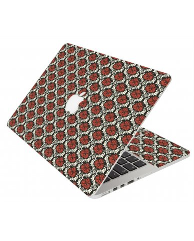Red Black 5 Apple Macbook Original 13 A1181 Laptop Skin