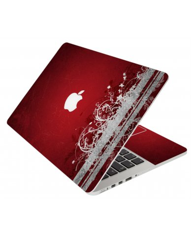 Red Grunge Apple Macbook Original 13 A1181 Laptop Skin