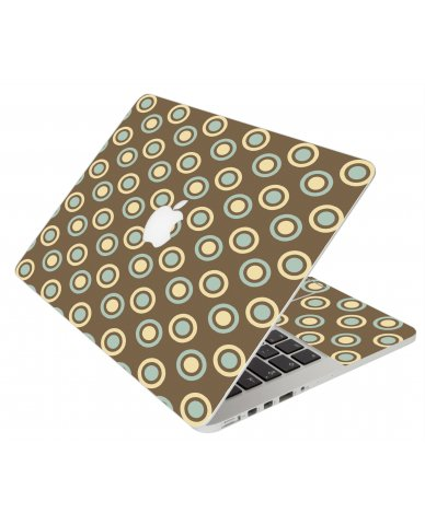 Retro Polka Dot Apple Macbook Original 13 A1181 Laptop Skin