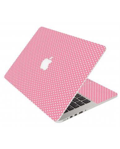 Retro Salmon Polka Apple Macbook Original 13 A1181 Laptop Skin