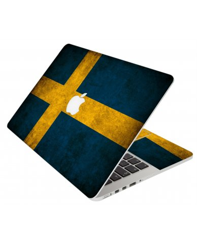 Swedish Flag Apple Macbook Original 13 A1181 Laptop Skin