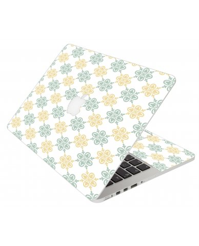 Yellow Green Flowers Apple Macbook Original 13 A1181 Laptop Skin