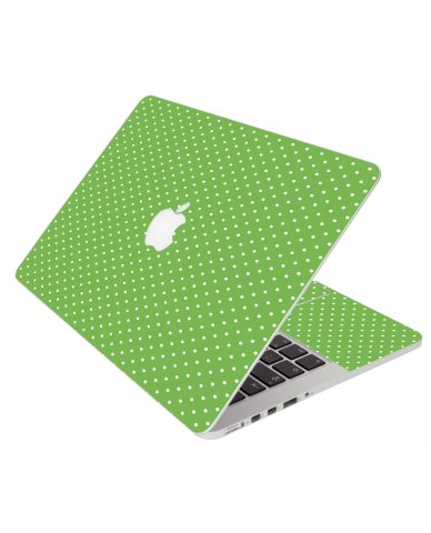 Kelly Green Polka Apple Macbook Pro 13 A1278 Laptop Skin