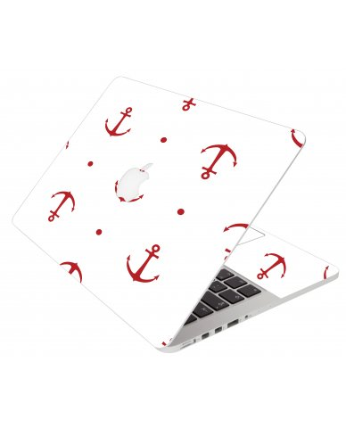 Red Anchor Apple Macbook Pro 13 A1278 Laptop Skin
