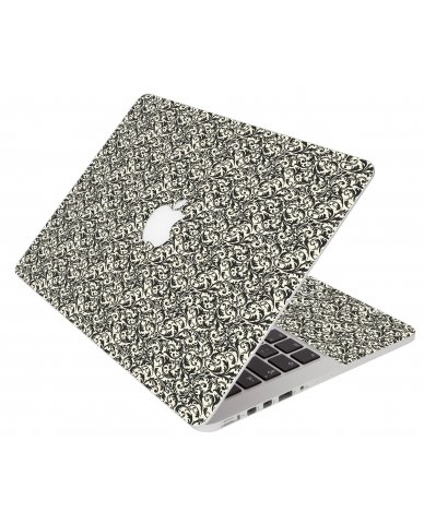 Black Versailles Apple Macbook Pro 13 Retina A1502 Laptop Skin