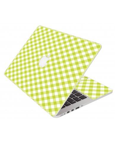 Green Checkered Apple Macbook Pro 13 Retina A1502 Laptop Skin