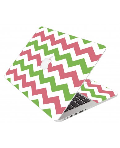 Green Pink Chevron Apple Macbook Pro 13 Retina A1502 Laptop Skin
