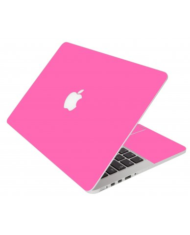 Pink Apple Macbook Pro 13 Retina A1502 Laptop Skin