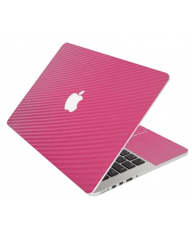 Pink Carbon Fiber Apple Macbook Pro 13 Retina A1502  Laptop Skin