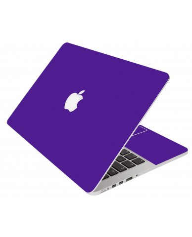 Purple Apple Macbook Pro 13 Retina A1502 Laptop Skin